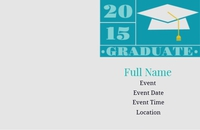 2015 Graduate Grey and Teal small